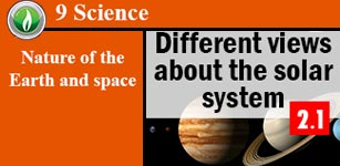Different views about the solar system